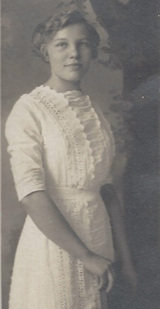 Vintage photo of Mid Wife named Catherine